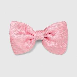 Zara pink polka dots bow tie